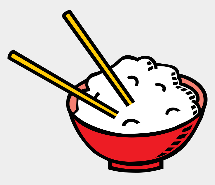 baguette clipart, Cartoons - Clipart Of Ld, Baguette And Crockery - Rice Bowl Draw Png