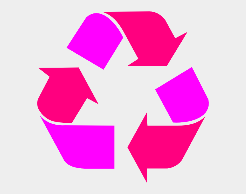 recycle symbol clipart, Cartoons - Two Tone Pink Recycle Symbol Clip Art - Red Recycling Symbol