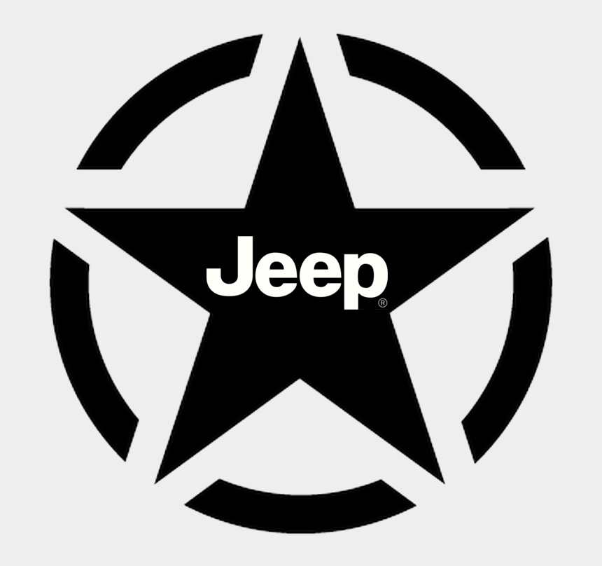 jeep grill clipart, Cartoons - Military Jeep Star With Jeep Logo Within - Us Army Star
