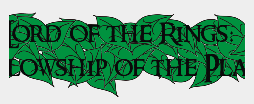 rings clipart, Cartoons - Lord Of The Rings Clipart Leaf - Lord Of The Rings