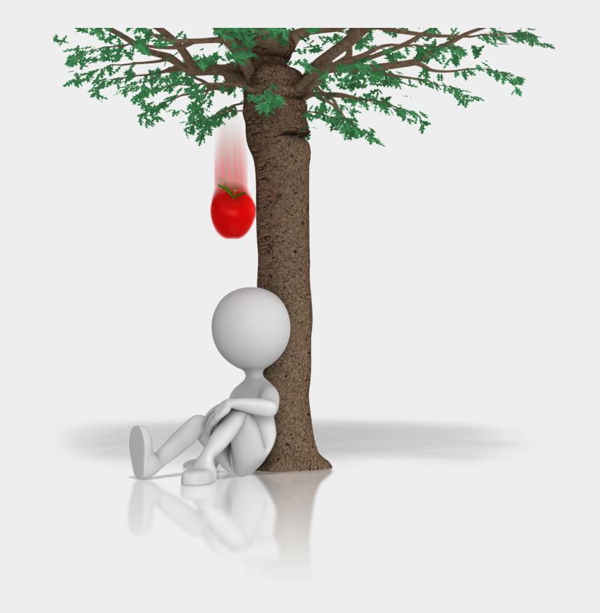 daydreaming clipart, Cartoons - Person Daydreaming Under An Apple Tree - Fruit Falling From Tree Gif