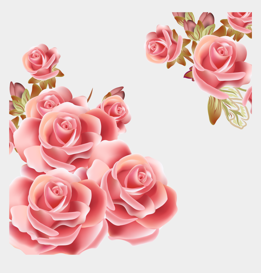 pink flowers clipart, Cartoons - Pink Flowers Rose Clip Art - Watercolor Roses Clipart Png