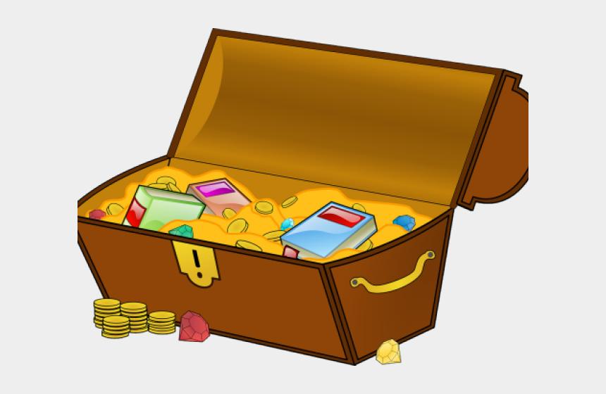 hunt clipart, Cartoons - Treasure Chest Of Books