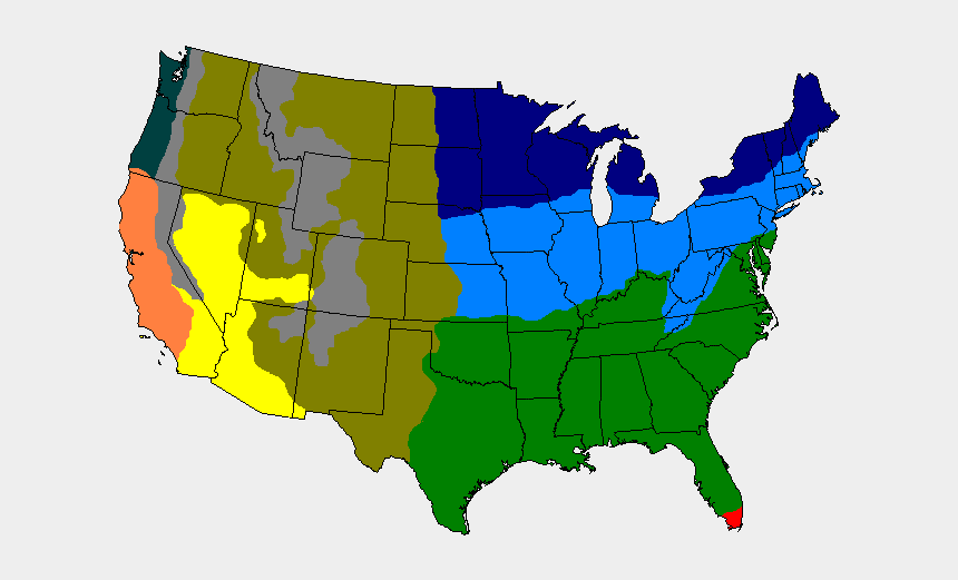 Map Of Usa Png - Climate Regions Of The United States ...