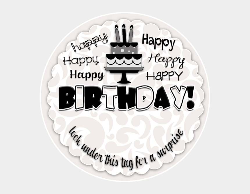 photograph relating to Happy Birthday Tag Printable named Pleased Birthday Tag Towards Move With A Resourceful Funds Present