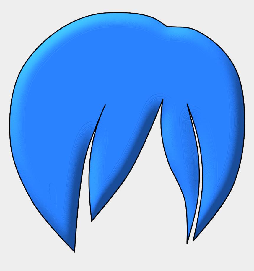 boy brush hair clipart, Cartoons - Clipart - Blue Anime Hair Png
