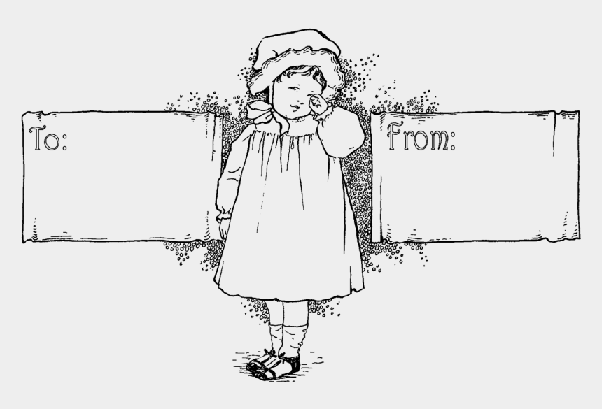 gift tag clipart black and white, Cartoons - These Digital Label Designs Will Add Lots Of Pretty - Line Art