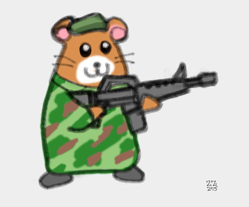beret clipart, Cartoons - Animal Holding A Gun Drawing