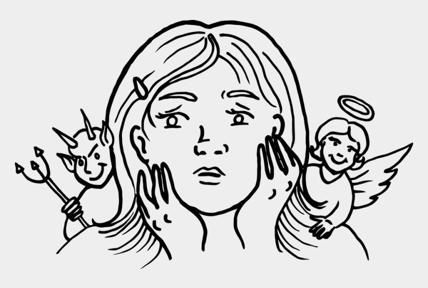 guardian angels clipart, Cartoons - Angel Devil Female Guardian Human Woman - Guardian Angel And Devil