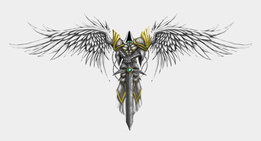 guardian angels clipart, Cartoons - Tattoo Star Angel Artist Warrior Michael File - Angel With Sword Tattoo Designs