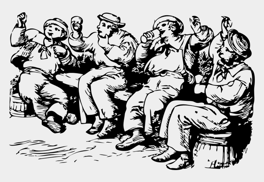 drunk clipart, Cartoons - Drunk Sailors Partying Party Free Picture - People Drinking Coffee Clip Art Png