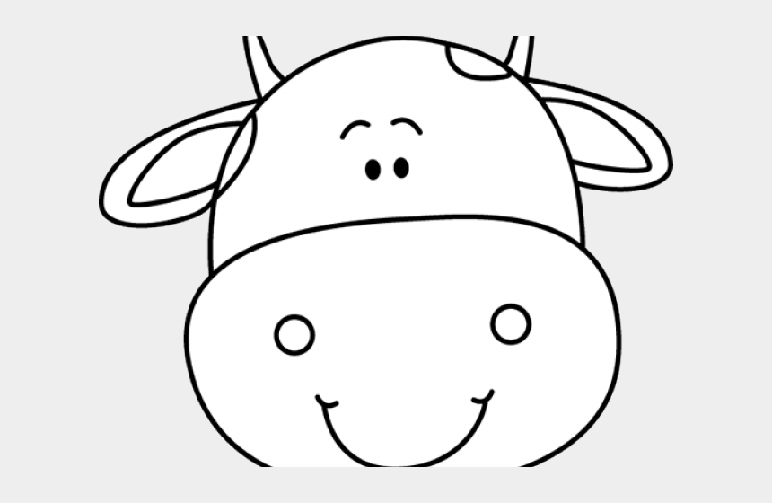 cow face clipart black and white, Cartoons - Cow Face Cliparts - Cute Cow Head Clipart