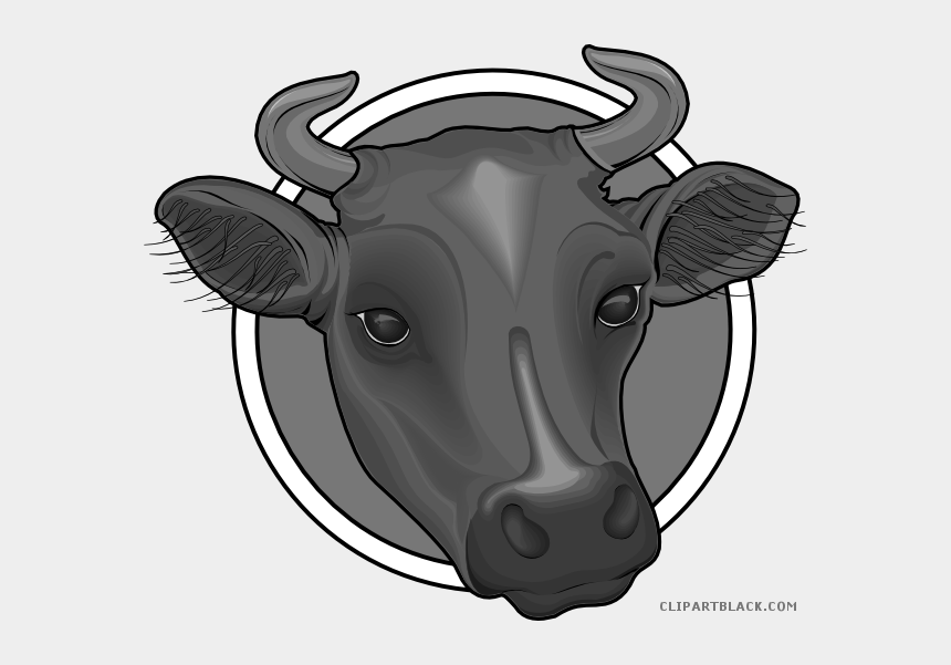 cow face clipart black and white, Cartoons - Cow Clipartblack Com Animal Free Black White Ⓒ - Cows Head Png