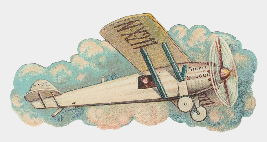 vintage airplane clipart no background, Cartoons - Airplane Transparent Png - Spirit Of St Louis Clipart