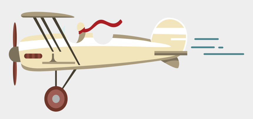 vintage airplane clipart no background, Cartoons - Airplane Aircraft Transprent - Vintage Airplane Vector Png