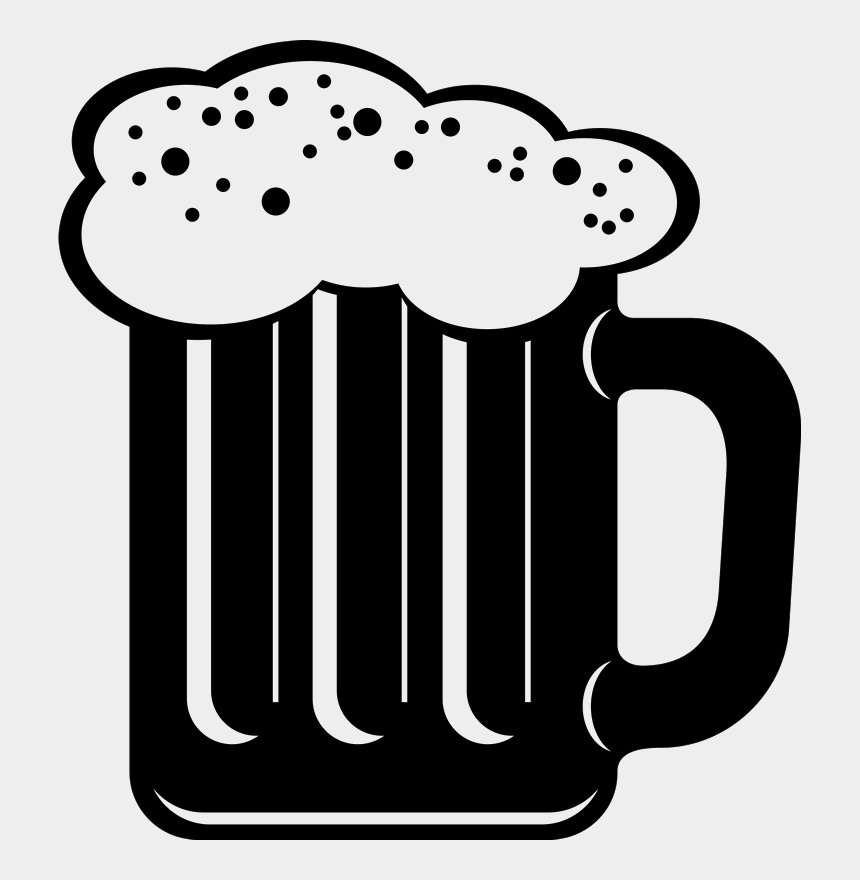 beer stein clipart black and white, Cartoons - Beer Mug With Foam Rubber Stamp - Beer Icons