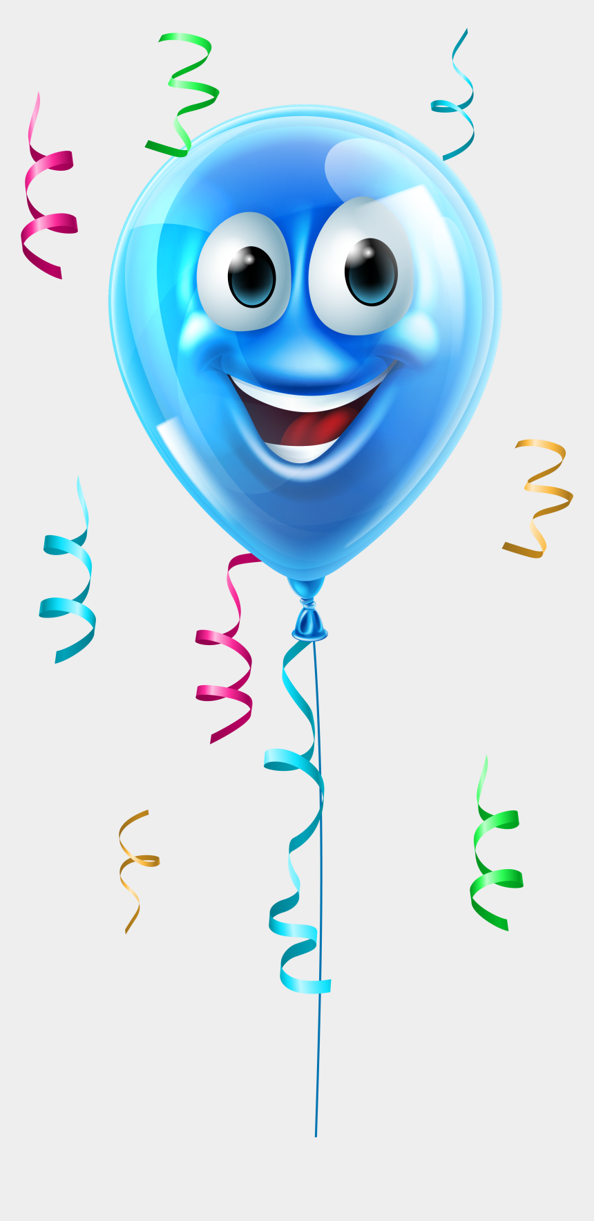 clipart birthday balloon, Cartoons - Balloon Emoji Png - Cartoon Balloon With Face