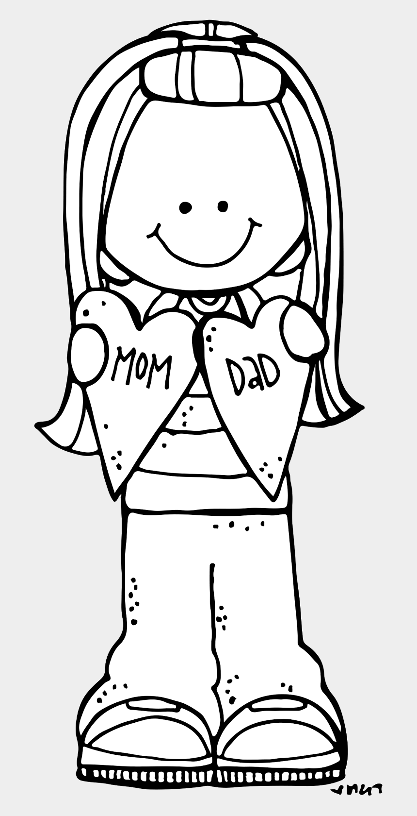 "father clipart black and white, Cartoons - ""honour Thy Father And Thy Mother"" Matthew This Is - Mothers Day Clipart Melonheadz"