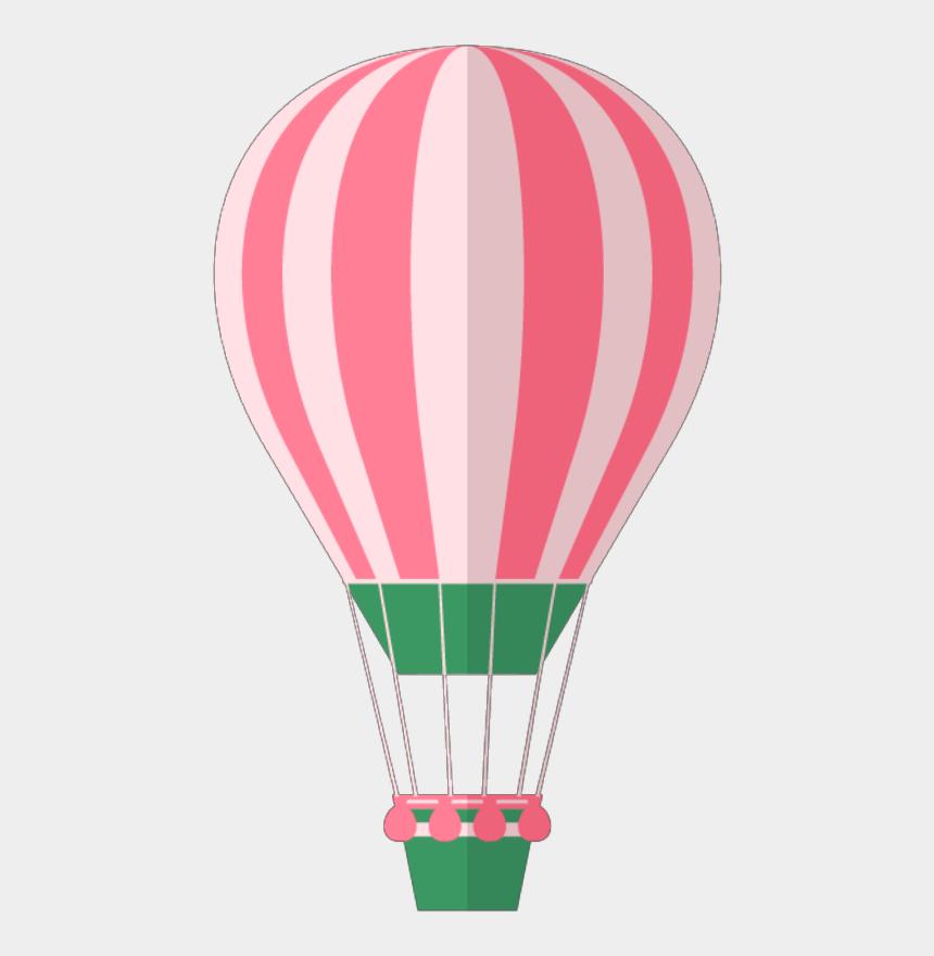 cute hot air balloon clipart, Cartoons - #ftestickers #clipart #hotairballoon #pink #cute - Hot Air Balloon
