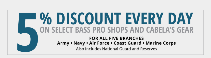 armed forces day clipart, Cartoons - 5% Discount Every Day On Select Cabela's & Bass Pro - Graphics
