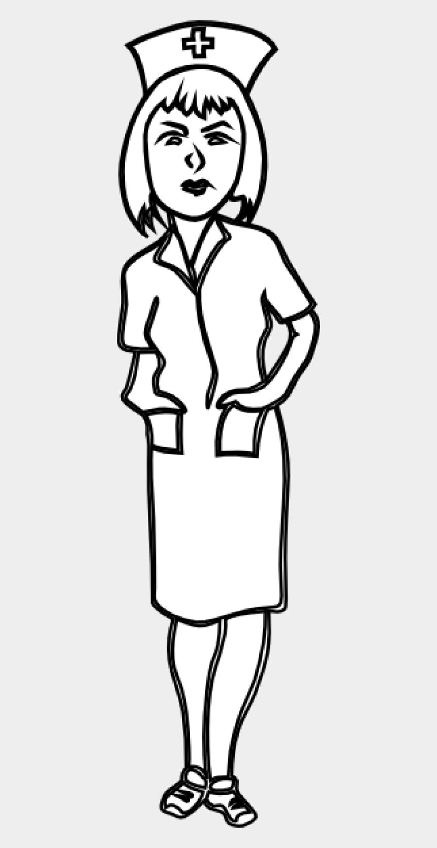 Cartoon Nurse Clipart Black And White