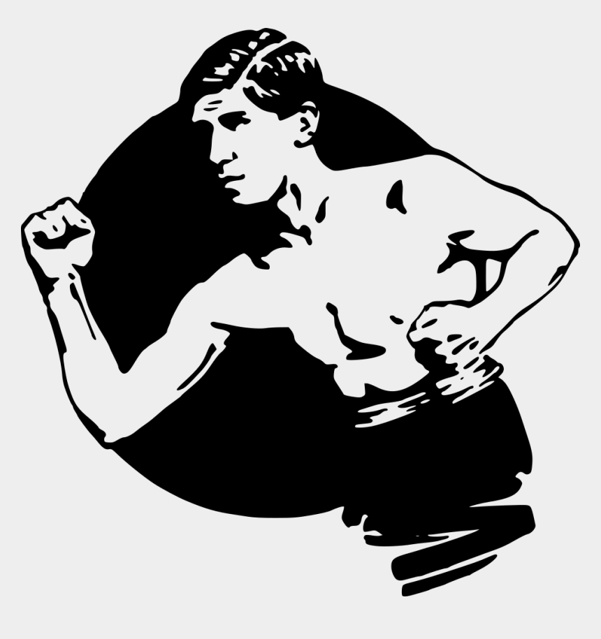 strongman clipart, Cartoons - Strong Black And White Clip Art Man