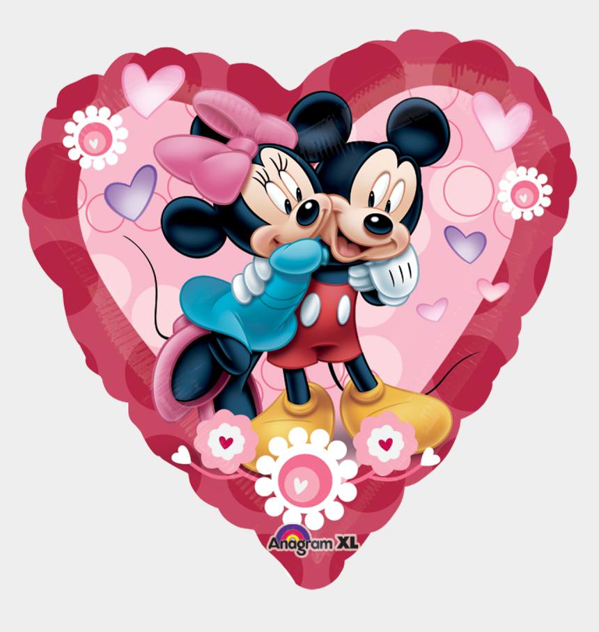 mickey and minnie clipart, Cartoons - Mickey Amp Minnie Heart Jumbo Wedding Day Mickey Mouse - Minnie And Mickey Mouse Valentine