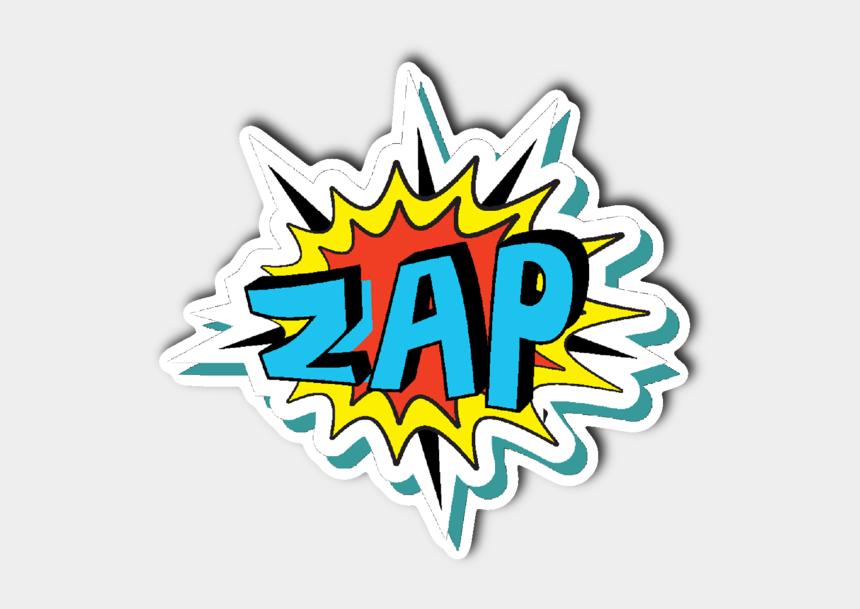 comic book clipart, Cartoons - Transparent Comic Zap - Comic Book Words Transparent
