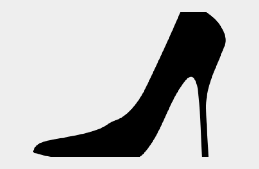 ballet shoes clipart black and white, Cartoons - Shoe Clipart Silhouette - Ladies Shoe Clipart