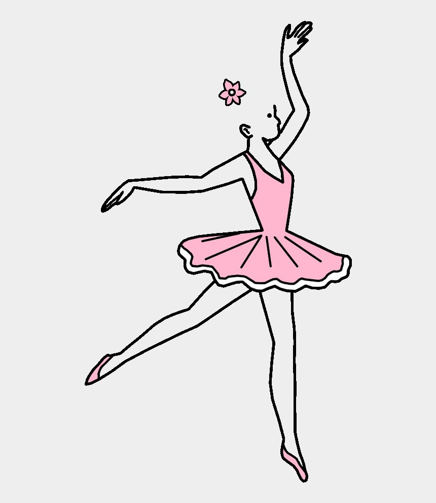 ballet shoes clipart black and white, Cartoons - Fair Skin, Blonde Hair, Pink Dress, - Ballet Dancer