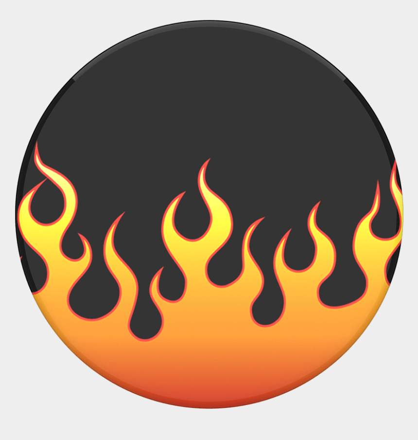 fire flames clipart black and white, Cartoons - Flame Circle Png - Popsocket Flames
