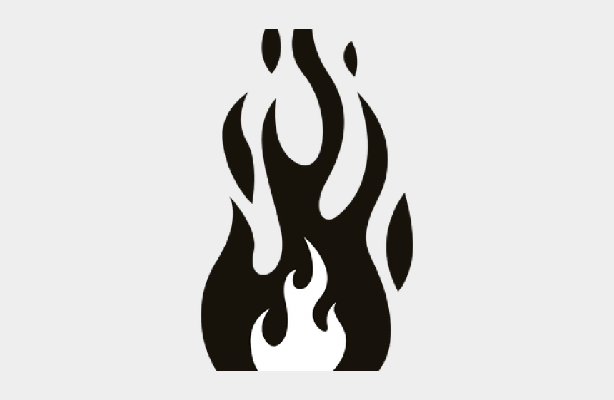 fire flames clipart black and white, Cartoons - Transparent Flames Black And White