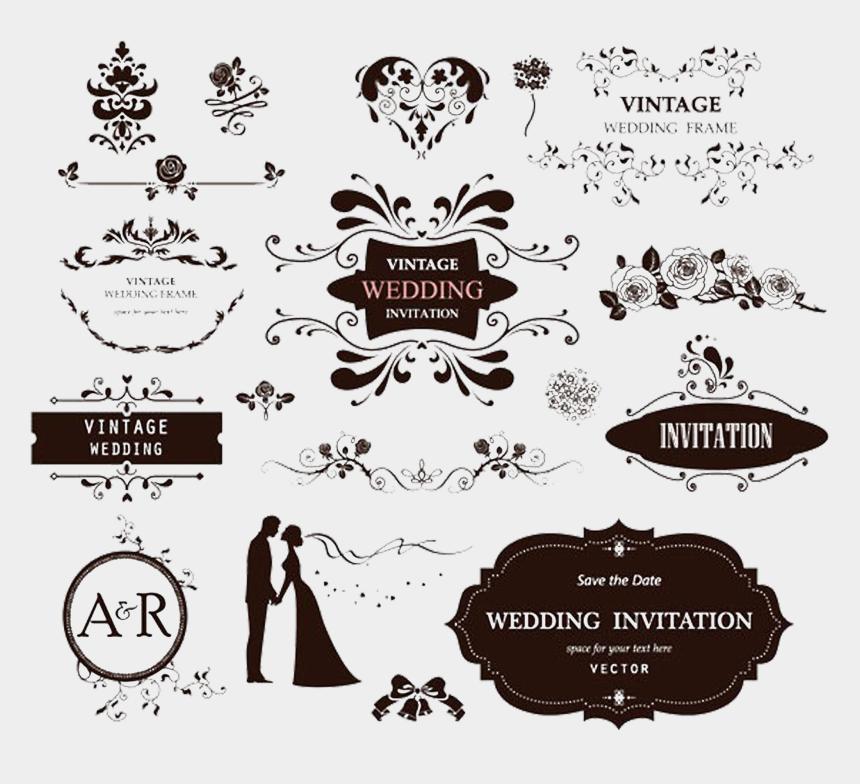 decorative label clipart, Cartoons - Label Clipart Wedding Invitation - Love Design Vector Free Download
