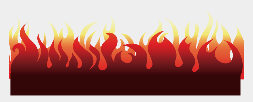fire flames clipart black and white, Cartoons - Heat Vector Fire Text - Red Fire Line Png