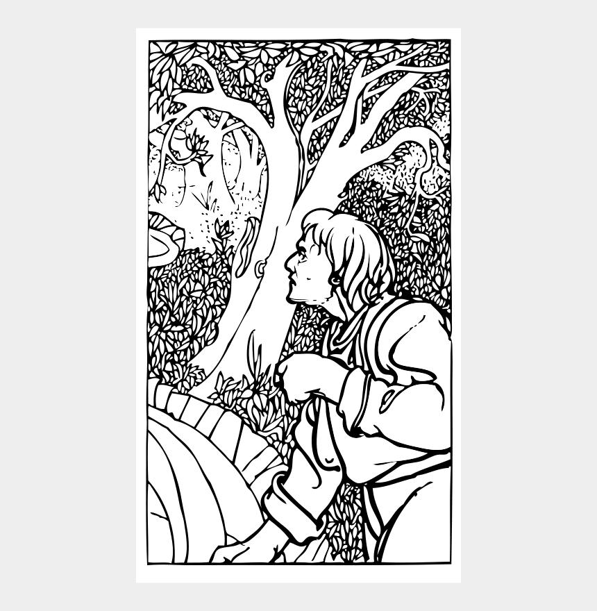 vineyard clipart, Cartoons - Woodsman Clip Art - Forest With Man Drawing