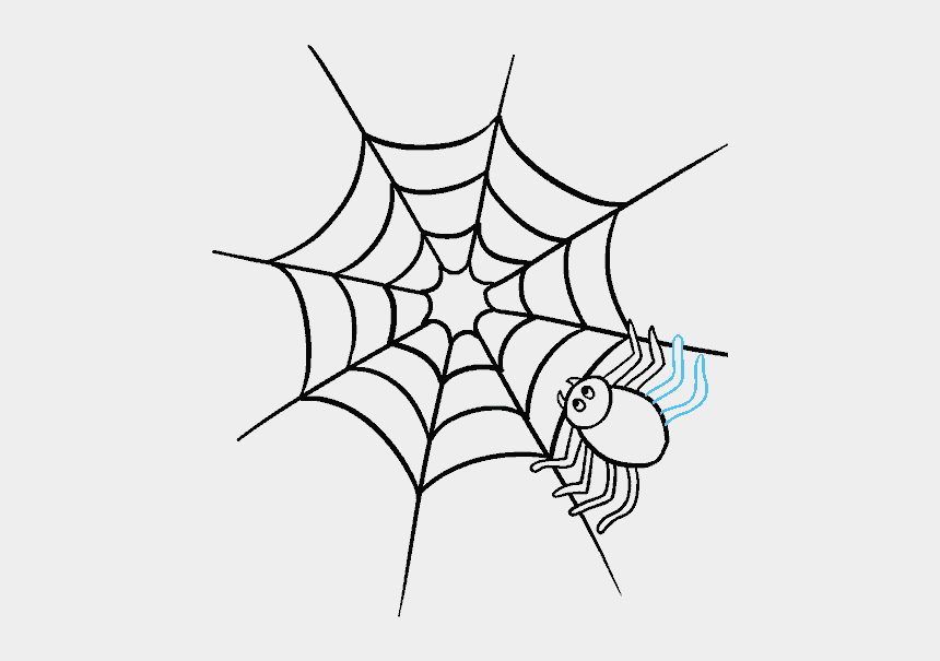 spiderweb clipart, Cartoons - Drawn Spider Web Easy - Draw A Spider Web