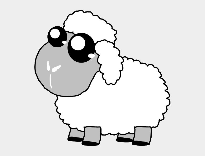 sheep clip art, Cartoons - Sheep Clipart Three - Draw A Cute Sheep