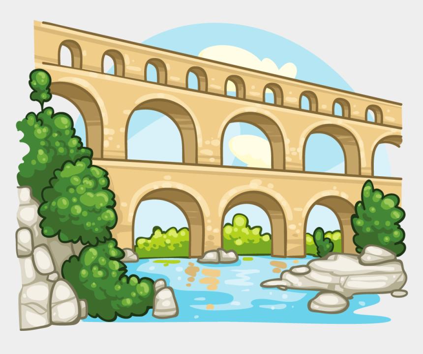bridge clip art, Cartoons - Aqueduct Clipart - Ancient Rome Aqueducts Clipart