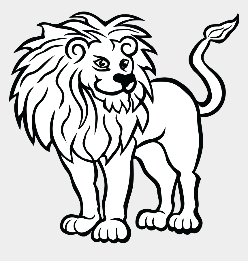 zoo clip art, Cartoons - Free Clipart Of A Lion - Lion Animals Coloring Pages