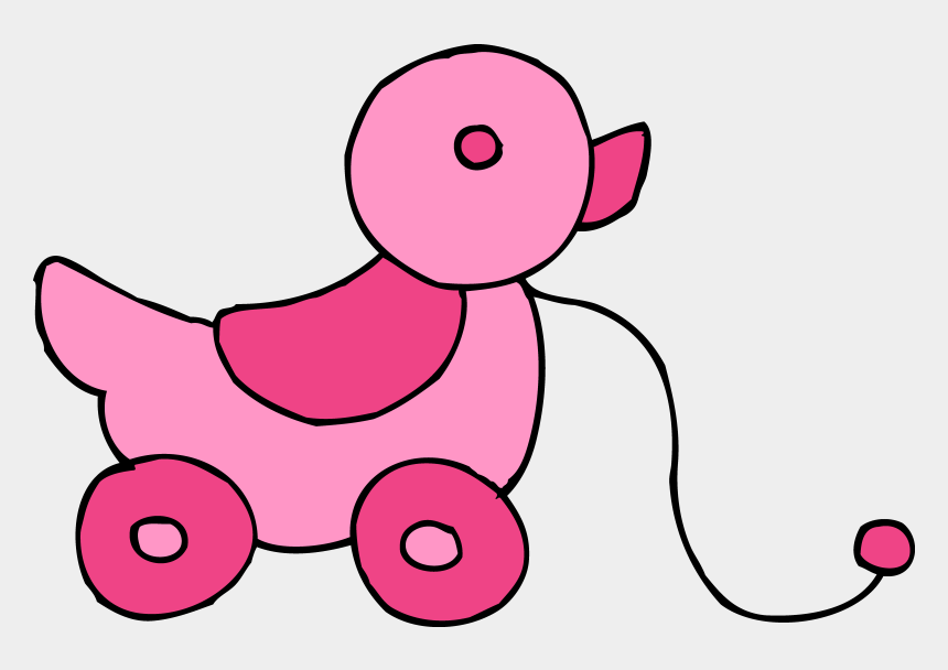 baby girl clip art, Cartoons - Baby Girl Toys Clipart - Pink Toy Clipart