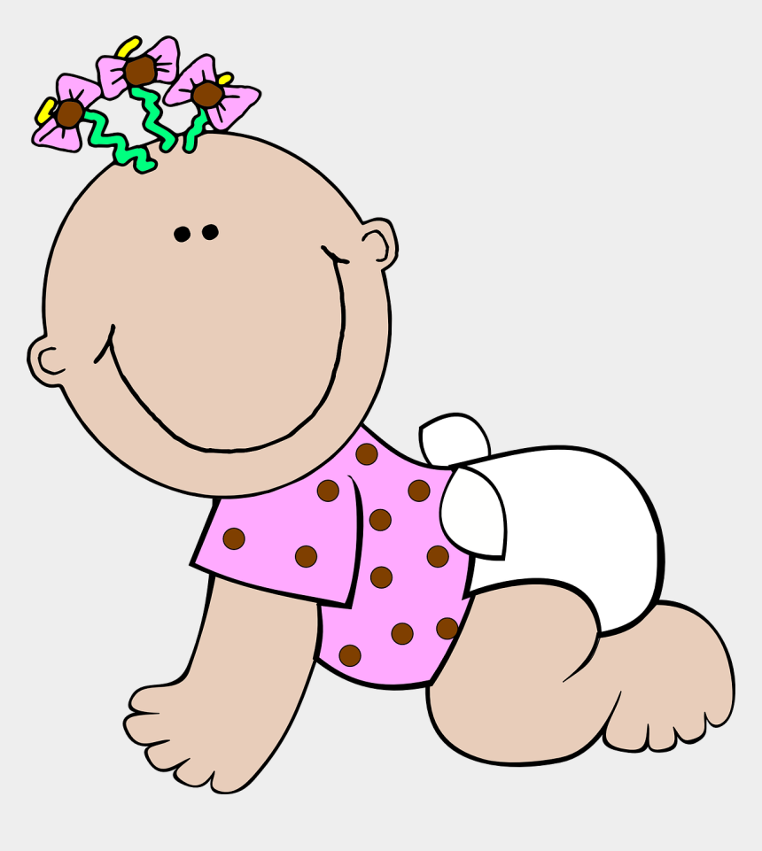 baby girl clip art, Cartoons - Baby Girl Clipart