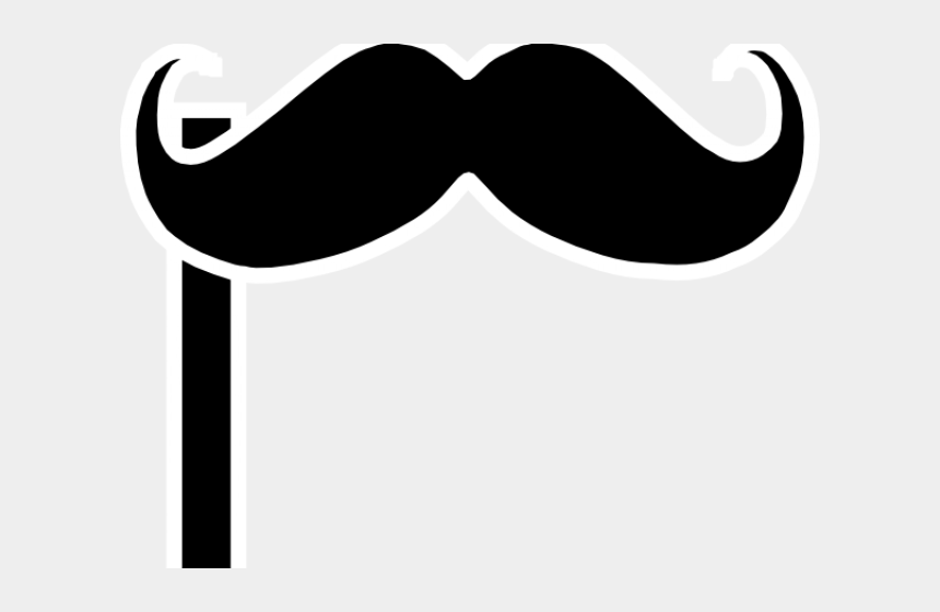 mustache clip art, Cartoons - Mustache On A Stick Clipart