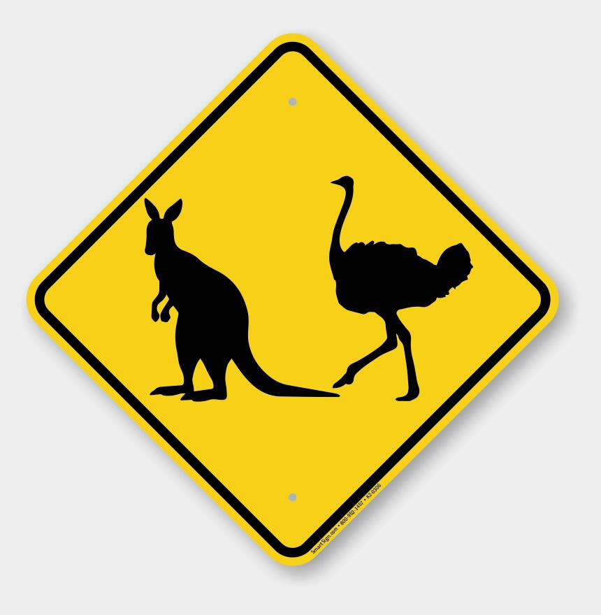 kangaroo clip art, Cartoons - Kangaroo Sign Png - Low Ground Clearance Sign