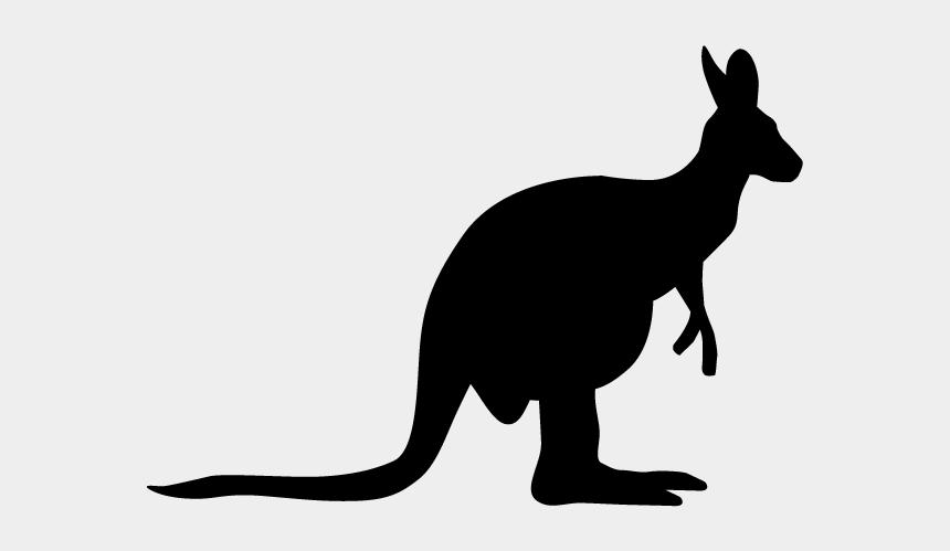 kangaroo clip art, Cartoons - View All Images-1 - カンガルー 白黒 イラスト