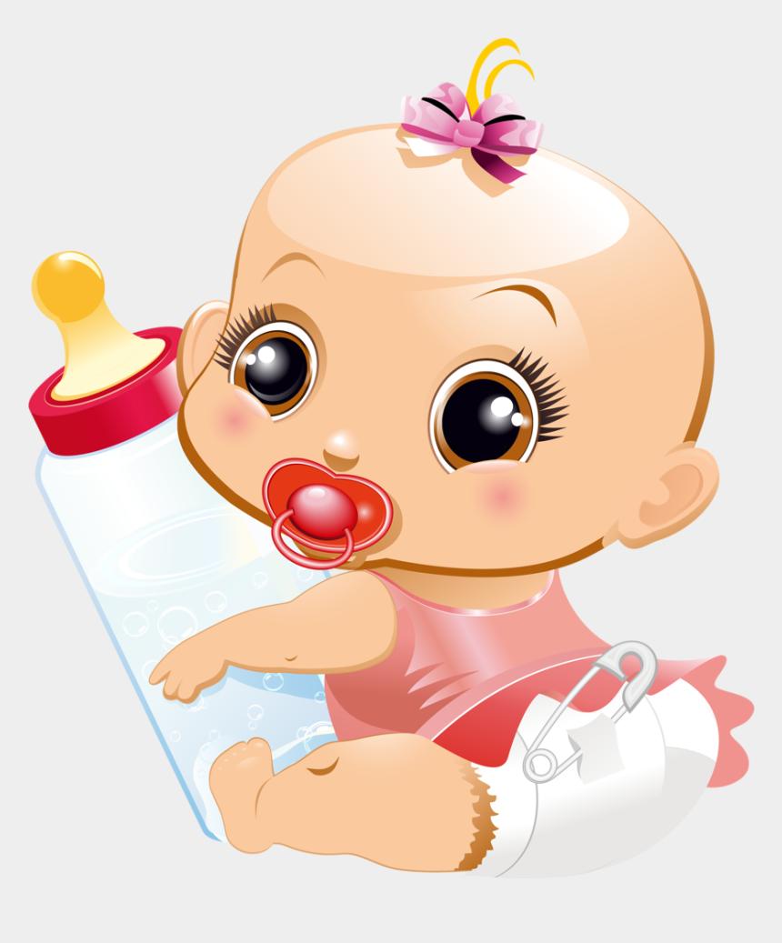 baby girl clip art, Cartoons - Baby Girl Clip Art - Bebe Con Biberon Dibujo