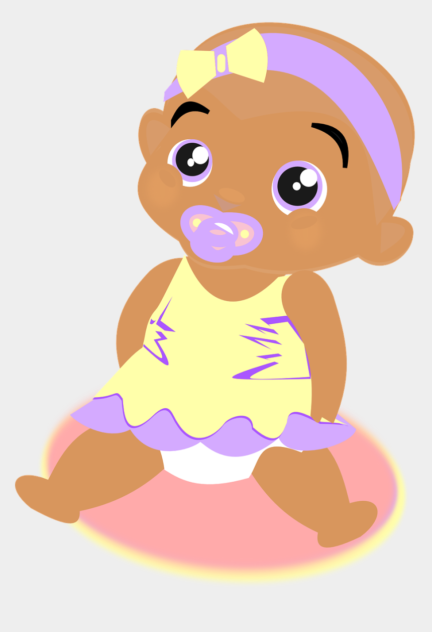 Baby Girl Dress Ribbon Soother Png Image - Clip Art Baby Black, Cliparts &  Cartoons - Jing.fm