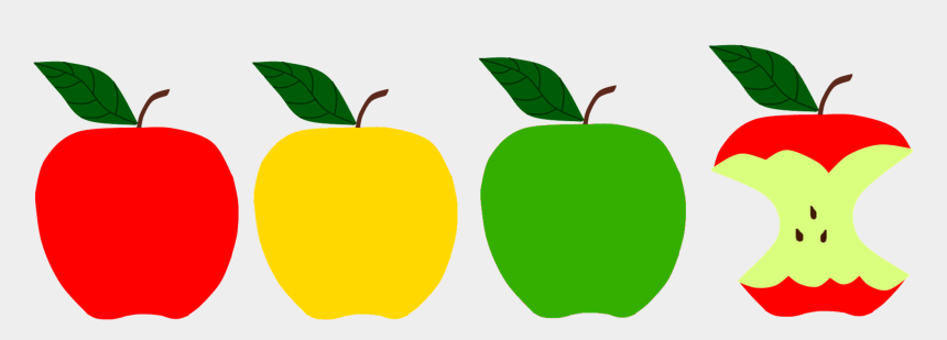 apples clipart, Cartoons - Apple Picking Clipart - Red Yellow Green Apple