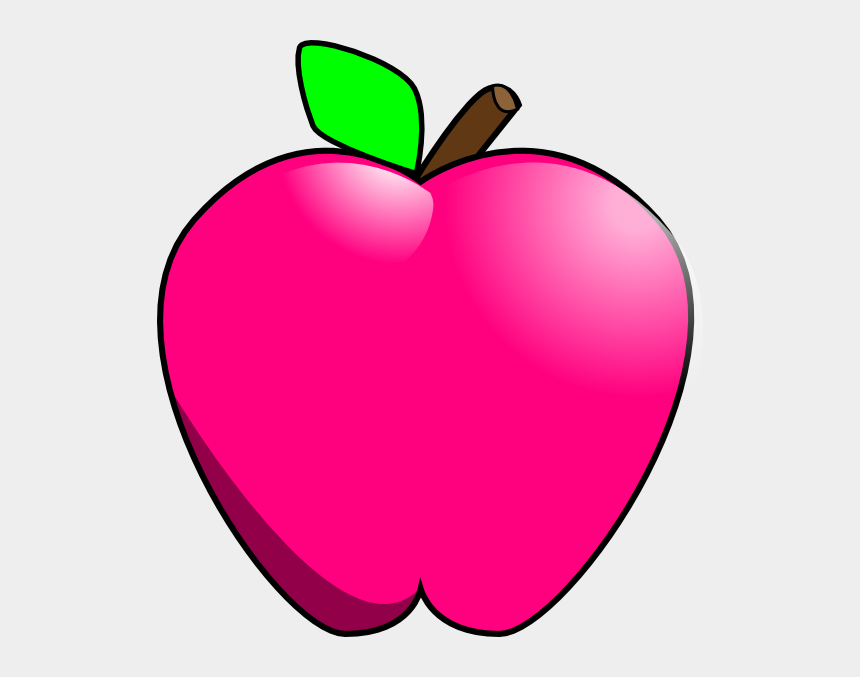 apples clipart, Cartoons - Hot Pink Apple Clipart