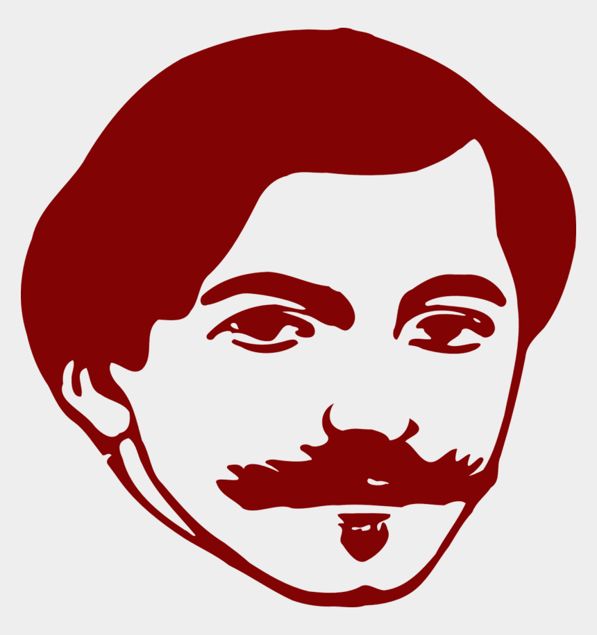 lips clip art, Cartoons - Man Face Head Free Vector Graphic On - Face With Moustache Clipart
