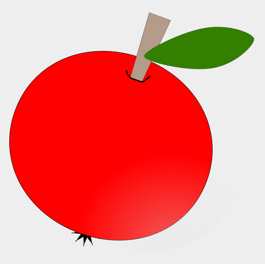 apples clipart, Cartoons - Free Vector Red Apple Clip Art - Round Apple